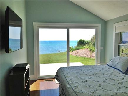 Plymouth MA vacation rental - Master bedroom with back deck and stunning ocean views