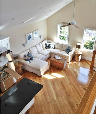 Harwich Port Cape Cod vacation rental - View of Living Area from the Loft