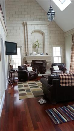 Yarmouth Port Cape Cod vacation rental - Main  Floor- TV area, with walk out French doors to patio