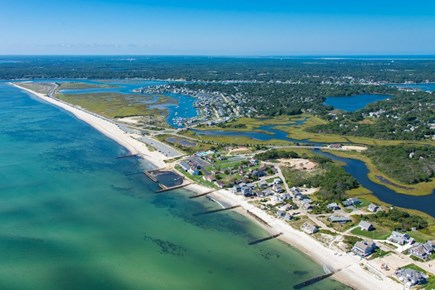 Dennisport Cape Cod vacation rental - West Dennis Beach: Aerial view