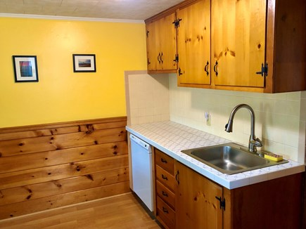 Dennisport Cape Cod vacation rental - Front room sink, counter and dish washer