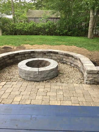South Yarmouth Cape Cod vacation rental - Newly Landscaped yard with fire pit