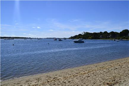 Falmouth Cape Cod vacation rental - Great Pond beach, with view toward Vineyard Sound