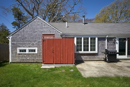 West Harwich Cape Cod vacation rental - Great outdoor shower with dressing area.