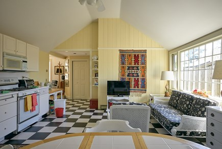 West Harwich Cape Cod vacation rental - Seating area in kitchen; opens to rest of house