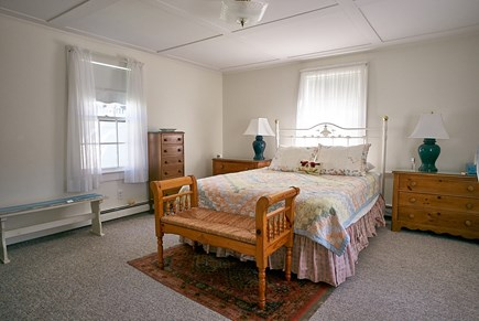 West Harwich Cape Cod vacation rental - Queen bed/back bdrm, antique furnishings, looks onto patio