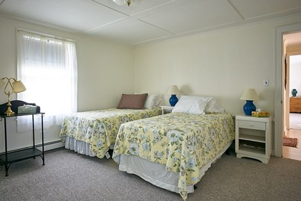 West Harwich Cape Cod vacation rental - Front bedroom with twin beds, charming New England furnishings