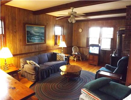East Dennis Cape Cod vacation rental - Spacious familyroom to relax in (with Internet!)