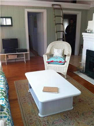 Chatham Cape Cod vacation rental - Coffee table lifts for additional dining.