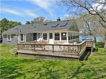 East Harwich Cape Cod vacation rental - Large deck area with lots of seating and grill