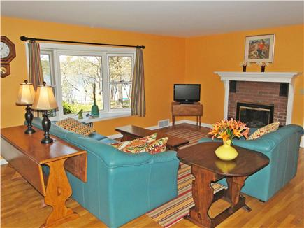 East Harwich Cape Cod vacation rental - Newly refinished living room with bay window facing water