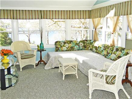 East Harwich Cape Cod vacation rental - Gorgeous sun room with sitting area, flatscreen TV, dining area