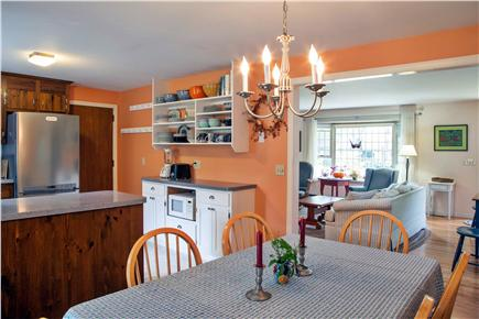 Brewster Cape Cod vacation rental - Dining room and kitchen from sun room