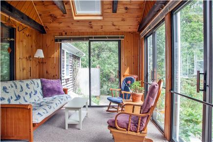Brewster Cape Cod vacation rental - Sunroom with comfortable seating area