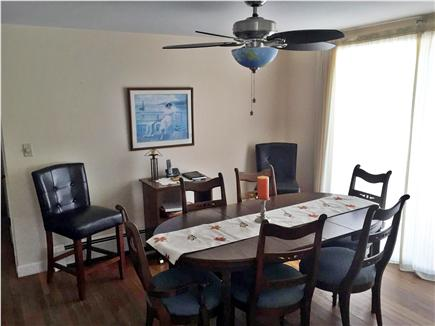 West Dennis Cape Cod vacation rental - Dining Room with slider to back yard