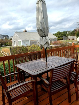 West Dennis Cape Cod vacation rental - Outside dining deck