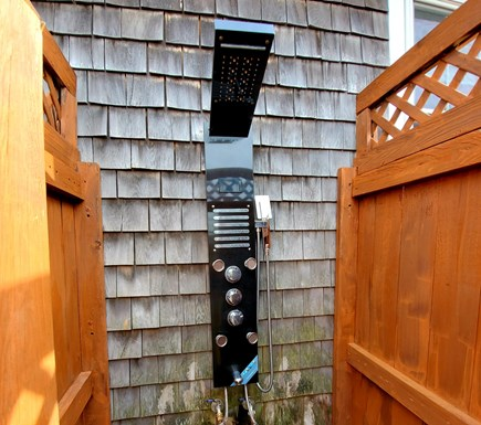 West Dennis Cape Cod vacation rental - Fantastic outdoor shower for after the beach