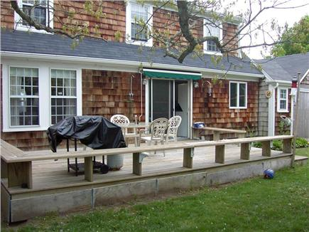 Hyannis Cape Cod vacation rental - Large low deck perfect for al fresco dining!