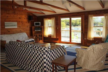 South Orleans Cape Cod vacation rental - South facing living room with views of the pond