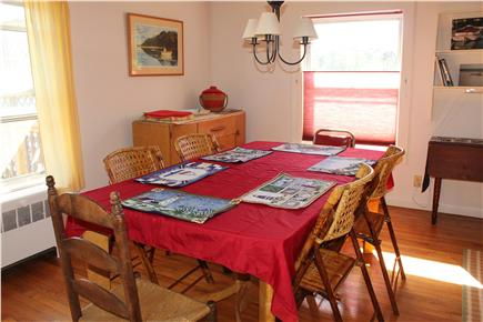 South Orleans Cape Cod vacation rental - Dining area with view of pond