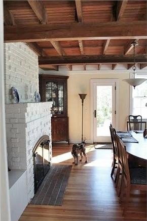 west hyannisport Cape Cod vacation rental - Antique Dining Room Seats 10 w/ Fireplace and Deck
