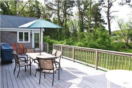 East Sandwich Cape Cod vacation rental - Spacious deck overlooking private yard.