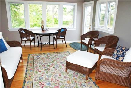 East Sandwich Cape Cod vacation rental - Sunroom overlooks back yard and tranquil salt marshes