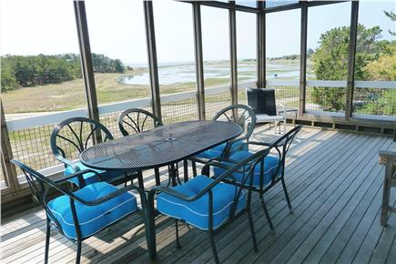 Wellfleet Cape Cod vacation rental - Dining on the deck