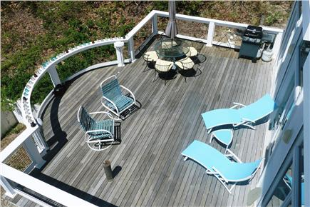 Wellfleet Cape Cod vacation rental - Aerial view of front deck