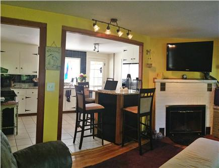 Sandwich Cape Cod vacation rental - Open space of living room viewing kitchen