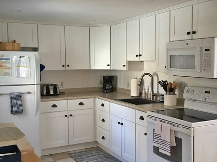 Mashpee Cape Cod vacation rental - New kitchen cabinets and appliances just added.