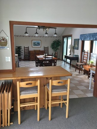 Mashpee Cape Cod vacation rental - Open concept living room Looking into the kitchen and dining area