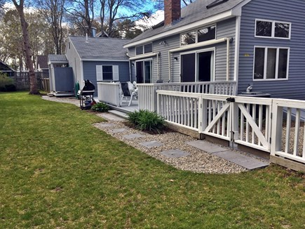 Mashpee Cape Cod vacation rental - Fenced in backyard. Pet friendly.