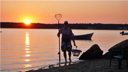 Mashpee Cape Cod vacation rental - Sunset at the bay beach, swim,quahog,kayak, and relax