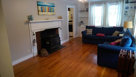 Brewster Cape Cod vacation rental - Living Room with fireplace and flat screen TV