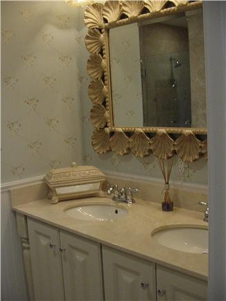 Falmouth Cape Cod vacation rental - Beautifully appointed master bath with double sinks,shower n tub