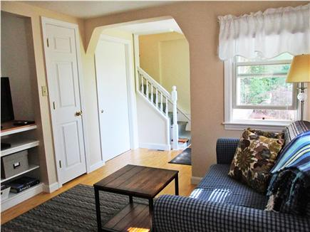 Bourne, Buzzards Bay Cape Cod vacation rental - Downstairs sitting area with TV/DVD player