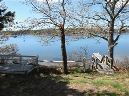 South Dennis Cape Cod vacation rental - 100 steps to bluff & follow stairs to pond