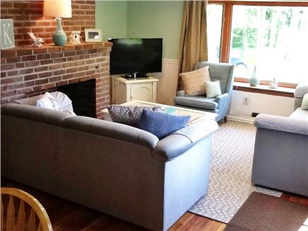 South Dennis Cape Cod vacation rental - L. Rm with lots of light from the bay window & plenty of seating
