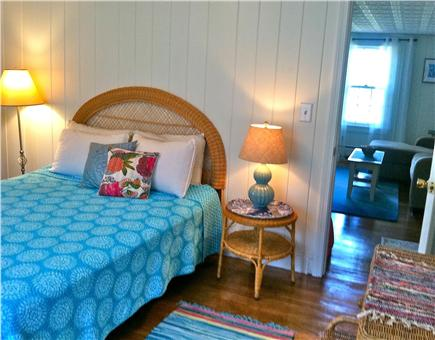 West Harwich Cape Cod vacation rental - Master bedroom w/ queen bed, closet, A/C and private 1/2 bath