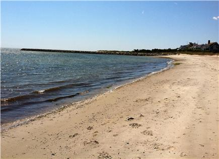 West Harwich Cape Cod vacation rental - Beautiful long private beach (extends other side of jetty)
