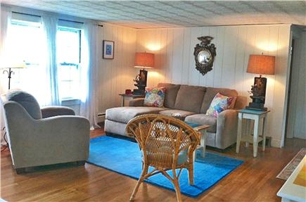 West Harwich Cape Cod vacation rental - Spacious open layout house - looking into LR from kitchen