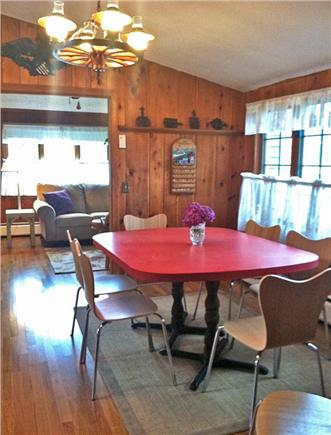 West Harwich Cape Cod vacation rental - Sunny dining area leads to den/TV room beyond