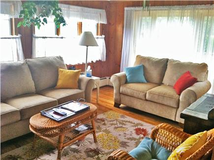 West Harwich Cape Cod vacation rental - Light-filled den! 42'' flat-screen TV & cable (other end of den)
