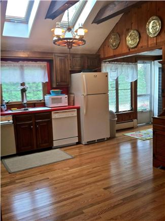 West Harwich Cape Cod vacation rental - Huge airy kitchen w/ dishwasher; washer/dryer area to the right