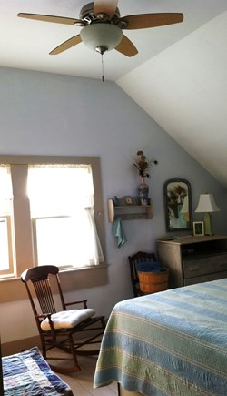Barnstable Cape Cod vacation rental - BR 3: Double bed, shares  bath w/BR 2, AC & ceiling fan/light