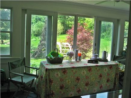 Barnstable Cape Cod vacation rental - Sun/breakfast room  connects front & back decks & outdoor shower