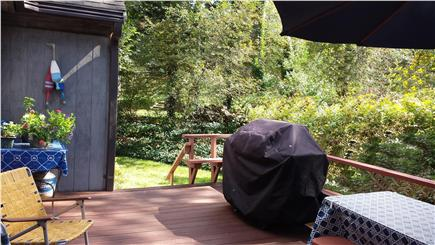 Orleans Cape Cod vacation rental - Plenty of seating on the deck to enjoy a family lobster bake