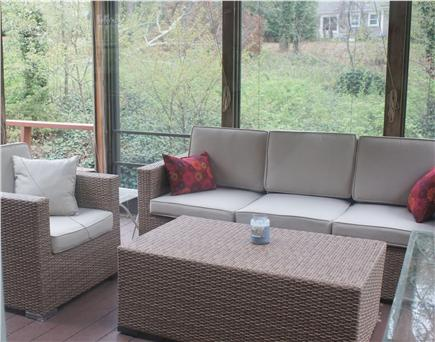 Orleans Cape Cod vacation rental - Cocktail hour on the screened in porch?