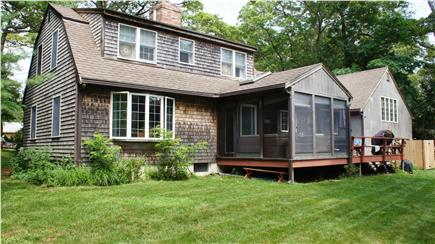 Orleans Cape Cod vacation rental - Private backyard with screened porch and open deck